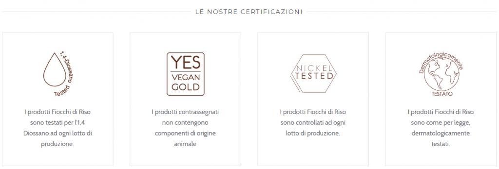 Certificazioni Fiocchi di Riso